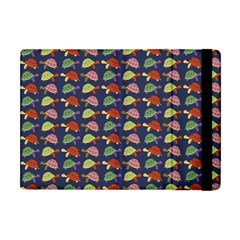 Turtle Pattern Apple Ipad Mini Flip Case by Valentinaart