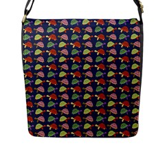 Turtle pattern Flap Messenger Bag (L)