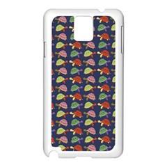 Turtle Pattern Samsung Galaxy Note 3 N9005 Case (white) by Valentinaart