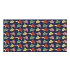 Turtle Pattern Satin Shawl by Valentinaart