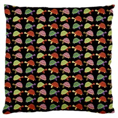 Turtle Pattern Large Cushion Case (two Sides) by Valentinaart