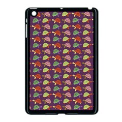 Turtle Pattern Apple Ipad Mini Case (black) by Valentinaart