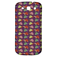 Turtle Pattern Samsung Galaxy S3 S Iii Classic Hardshell Back Case by Valentinaart