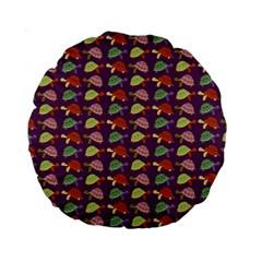 Turtle Pattern Standard 15  Premium Round Cushions by Valentinaart