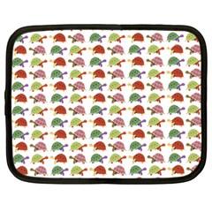 Turtle Pattern Netbook Case (large) by Valentinaart