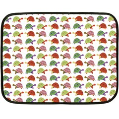 Turtle Pattern Double Sided Fleece Blanket (mini)  by Valentinaart