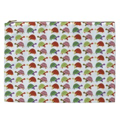 Turtle Pattern Cosmetic Bag (xxl)  by Valentinaart