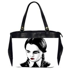 Wednesday Addams Office Handbags (2 Sides)  by Valentinaart