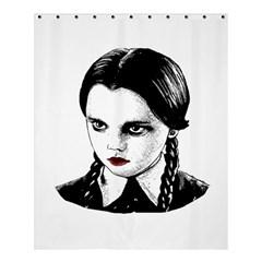 Wednesday Addams Shower Curtain 60  X 72  (medium)  by Valentinaart
