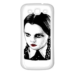 Wednesday Addams Samsung Galaxy S3 Back Case (white) by Valentinaart