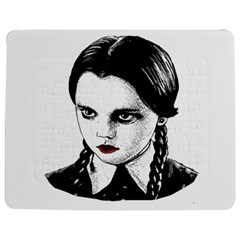Wednesday Addams Jigsaw Puzzle Photo Stand (rectangular) by Valentinaart