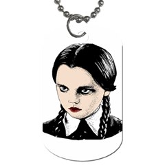 Wednesday Addams Dog Tag (one Side) by Valentinaart