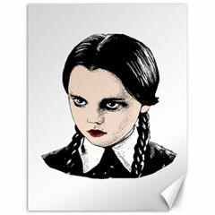 Wednesday Addams Canvas 12  X 16   by Valentinaart