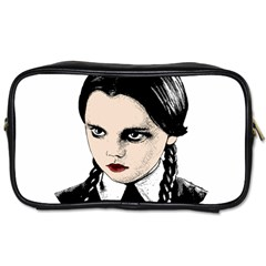 Wednesday Addams Toiletries Bags by Valentinaart