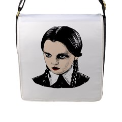 Wednesday Addams Flap Messenger Bag (l)  by Valentinaart