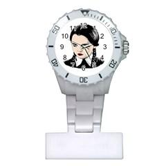 Wednesday Addams Plastic Nurses Watch by Valentinaart