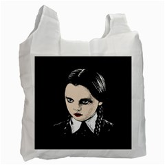 Wednesday Addams Recycle Bag (two Side)  by Valentinaart