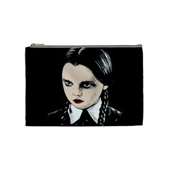 Wednesday Addams Cosmetic Bag (medium)  by Valentinaart
