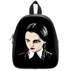 Wednesday Addams School Bags (small)  by Valentinaart