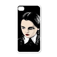 Wednesday Addams Apple Iphone 4 Case (white) by Valentinaart