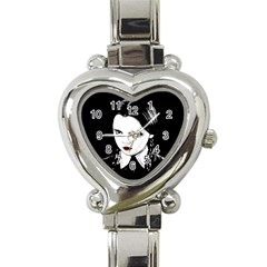 Wednesday Addams Heart Italian Charm Watch by Valentinaart