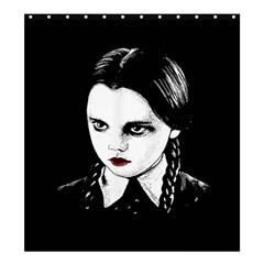 Wednesday Addams Shower Curtain 66  X 72  (large)  by Valentinaart