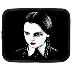 Wednesday Addams Netbook Case (xxl)  by Valentinaart