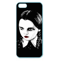 Wednesday Addams Apple Seamless Iphone 5 Case (color) by Valentinaart