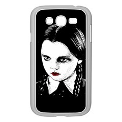 Wednesday Addams Samsung Galaxy Grand Duos I9082 Case (white) by Valentinaart