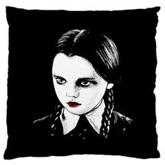 Wednesday Addams Large Flano Cushion Case (two Sides)