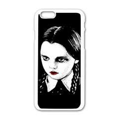 Wednesday Addams Apple Iphone 6/6s White Enamel Case by Valentinaart