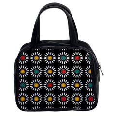 White Daisies Pattern Classic Handbags (2 Sides) by linceazul
