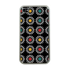 White Daisies Pattern Apple Iphone 4 Case (clear) by linceazul