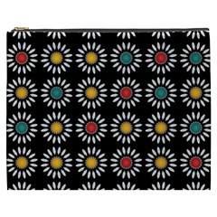 White Daisies Pattern Cosmetic Bag (xxxl)  by linceazul
