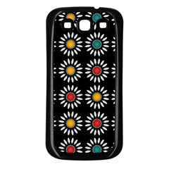 White Daisies Pattern Samsung Galaxy S3 Back Case (black) by linceazul