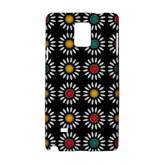 White Daisies Pattern Samsung Galaxy Note 4 Hardshell Case by linceazul