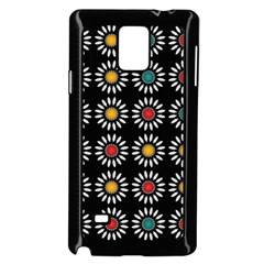 White Daisies Pattern Samsung Galaxy Note 4 Case (black) by linceazul