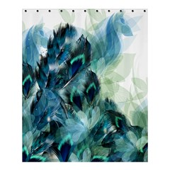 Flowers And Feathers Background Design Shower Curtain 60  X 72  (medium)  by TastefulDesigns