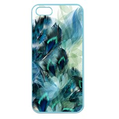 Flowers And Feathers Background Design Apple Seamless Iphone 5 Case (color) by TastefulDesigns