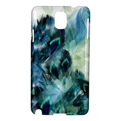 Flowers And Feathers Background Design Samsung Galaxy Note 3 N9005 Hardshell Case by TastefulDesigns