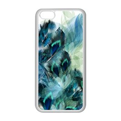 Flowers And Feathers Background Design Apple Iphone 5c Seamless Case (white) by TastefulDesigns