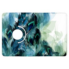 Flowers And Feathers Background Design Kindle Fire Hdx Flip 360 Case by TastefulDesigns