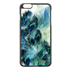 Flowers And Feathers Background Design Apple Iphone 6 Plus/6s Plus Black Enamel Case by TastefulDesigns