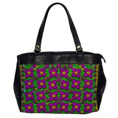 Bohemian Big Flower Of The Power In Rainbows Office Handbags by pepitasart