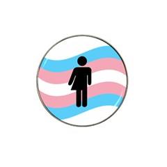 Transgender  Hat Clip Ball Marker by Valentinaart