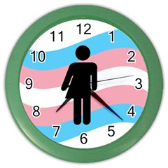 Transgender  Color Wall Clocks by Valentinaart