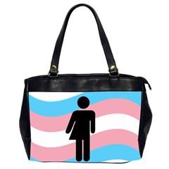 Transgender  Office Handbags (2 Sides)  by Valentinaart