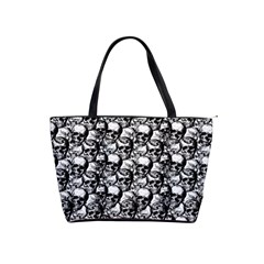 Skulls Pattern  Shoulder Handbags by Valentinaart
