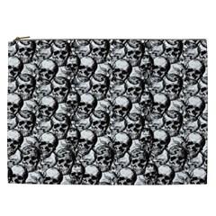 Skulls Pattern  Cosmetic Bag (xxl)  by Valentinaart