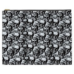Skulls Pattern  Cosmetic Bag (xxxl)  by Valentinaart